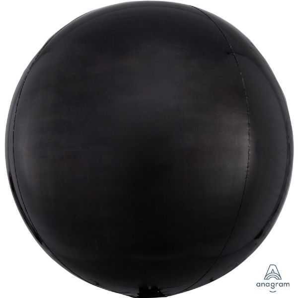 Black Round Orbz 15in Balloon